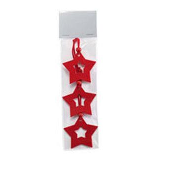 Cx1346-05  | STARFY  Новогодние украшения. 3 звезды из войлока.