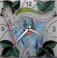 """Витражные часы """"Улыбка"""", фото 1"""