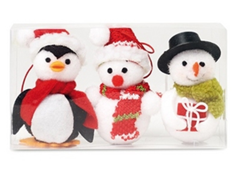 Cx1411-00    SNOWIES  NEWPRODUCT  Набор из двух снеговиков и одного пингвина