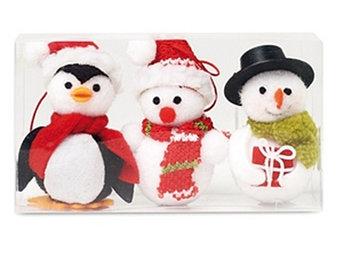 Cx1411-00  | SNOWIES  NEWPRODUCT  Набор из двух снеговиков и одного пингвина