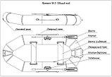 Лодка Фрегат М- 3 зел.(1210) (2 чел., 220 кг) с креплением под транец, фото 2