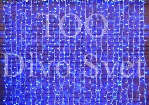 Светодиодная гирлянда Занавес - Шторки интерактивная 4.5*0,8м, Синий, белый, Синий+белый. Led гирлянды