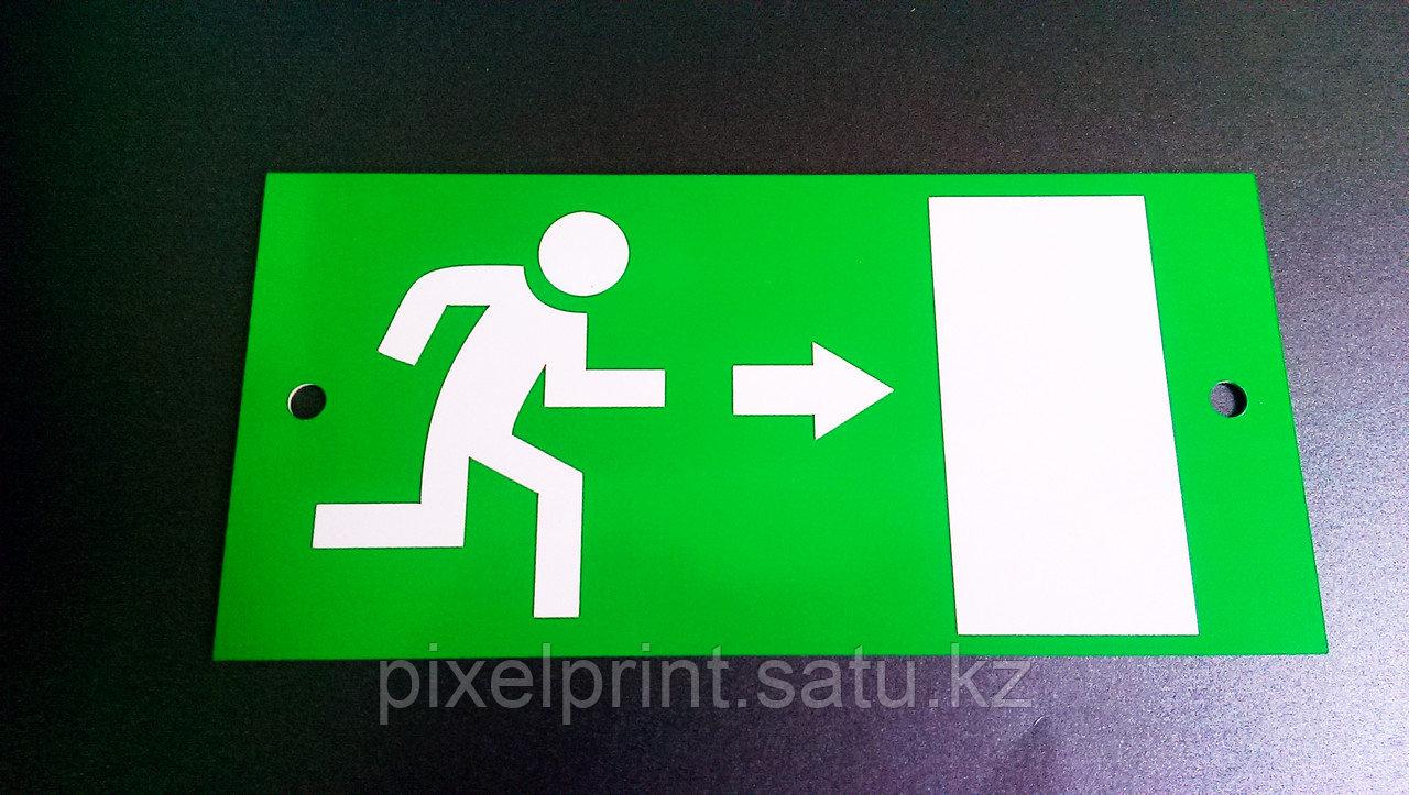 Направление к эвакуационному выходу направо/налево