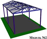 Навес из поликарбоната двускатный, фото 1