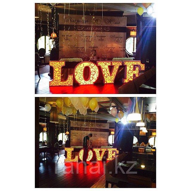 Объемные буквы Love в Алматы