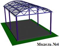 Полукруглый навес из поликарбоната, фото 1