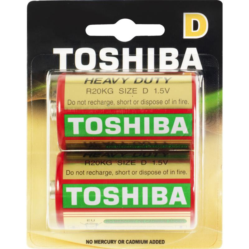 Батарейка TOSHIBA Heavy Duty R20KG BP-2(A) FA R20 BL2