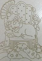Трафарет для рисования песком, Лев