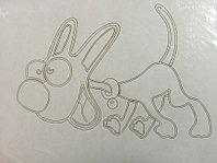 Трафарет для рисования цветным песком, Собака 20, формат А4