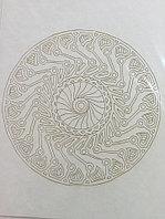 Трафарет для рисования цветным песком, Мандала, формат А4