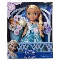 Кукла Эльза Холодное Сердце, поющая с микрофоном