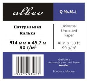 ALBEO Q90-36-1 Натуральная калька, 90г/м2, 0.914x45.7м