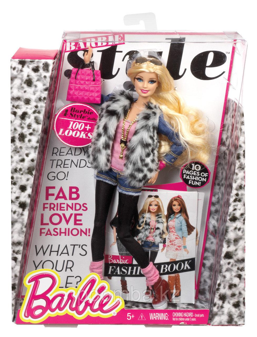 """Кукла Барби """"Стиль"""" - Барби в меховой жилетке"""