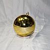 """Новогодняя игрушка на ёлку """"Шар"""" 10 см (цвет: золото)"""