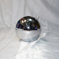 Елочная игрушка шар для украшения больших елок- размер 10 см (цвет: красный, синий, серебро, золото)