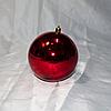 """Новогодняя игрушка на ёлку """"Шар"""" 10 см (цвет: красный)"""