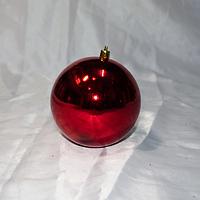 Красный новогодний шар - размер 10 см (цвет: красный, синий, серебро, золото)