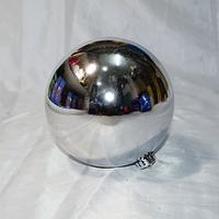 Серебрянный новогодний шар - размер 15 см (цвет: красный, синий, серебро, золото)