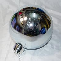 Елочные шары для росписи и украшения больших елок - размер 20 см (красный, синий, серебро, золото)
