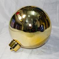 Новогодняя игрушка шар для украшения больших елок - размер 25 см (красный, синий, серебро, золото)