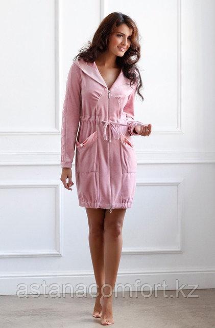 Платье - Халат короткий велюровый