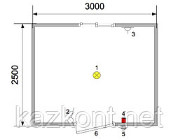 Здание мобильное контейнерного типа 3,0*2,5*2,6 м