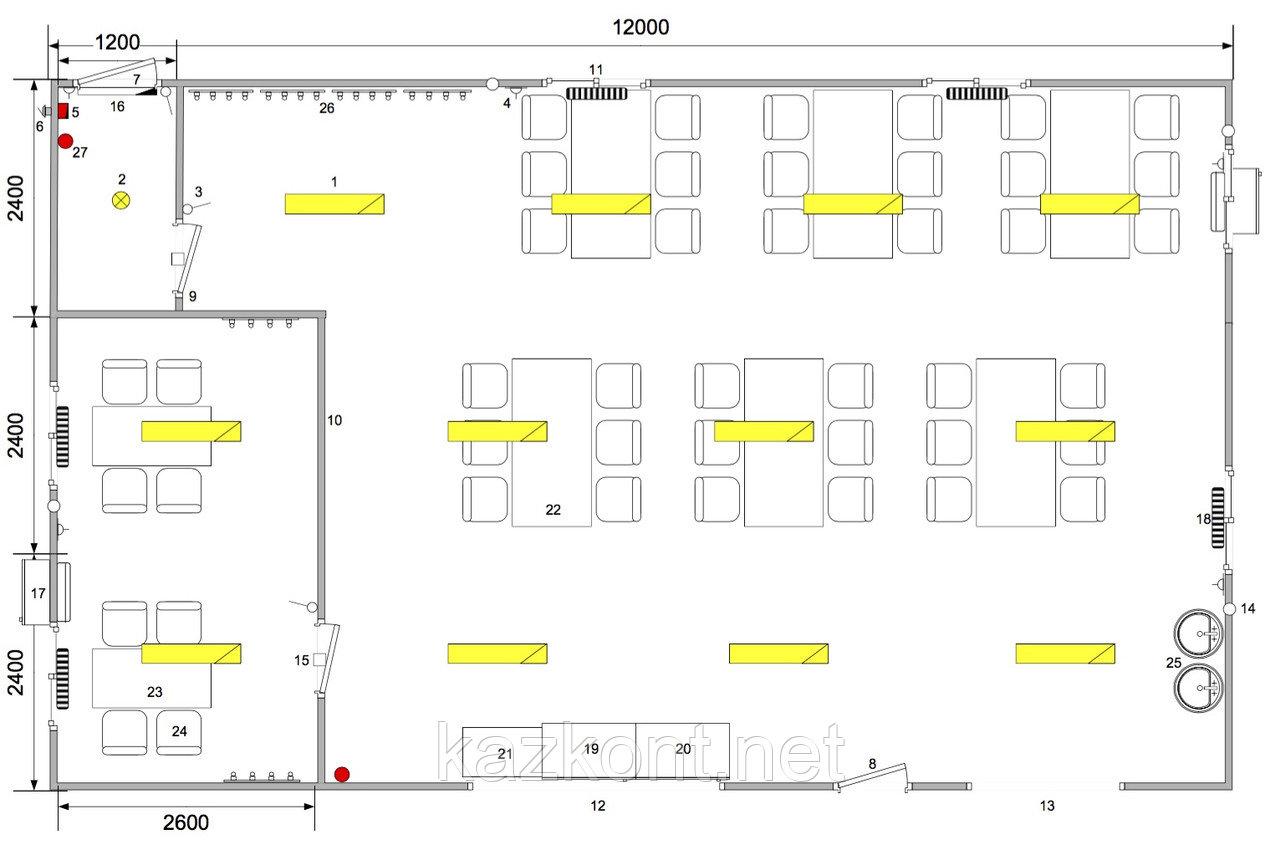 Столовая (модульное здание) из 3-ти контейнеров!