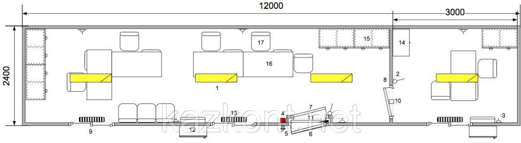 Прорабская из контейнера 40ф