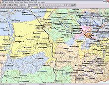 Вектрорная карта Казахстана 1:1 000 000