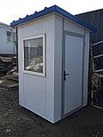 Будка охранника, утеплитель 100мм, охранная будка, КПП 1,5*1,5*2,5 м, фото 3