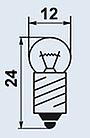 МН26-0.12 миниатюрная лампа накаливания, фото 2