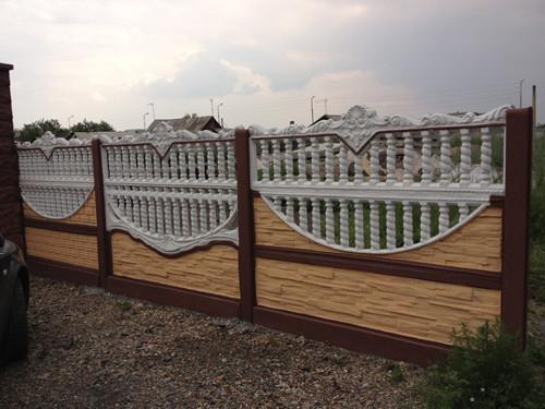 Забор из бетона декоративный купить в раствор строительный тяжелый