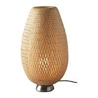 Лампа настольная БОЙА никелированный ротанг ИКЕА, IKEA