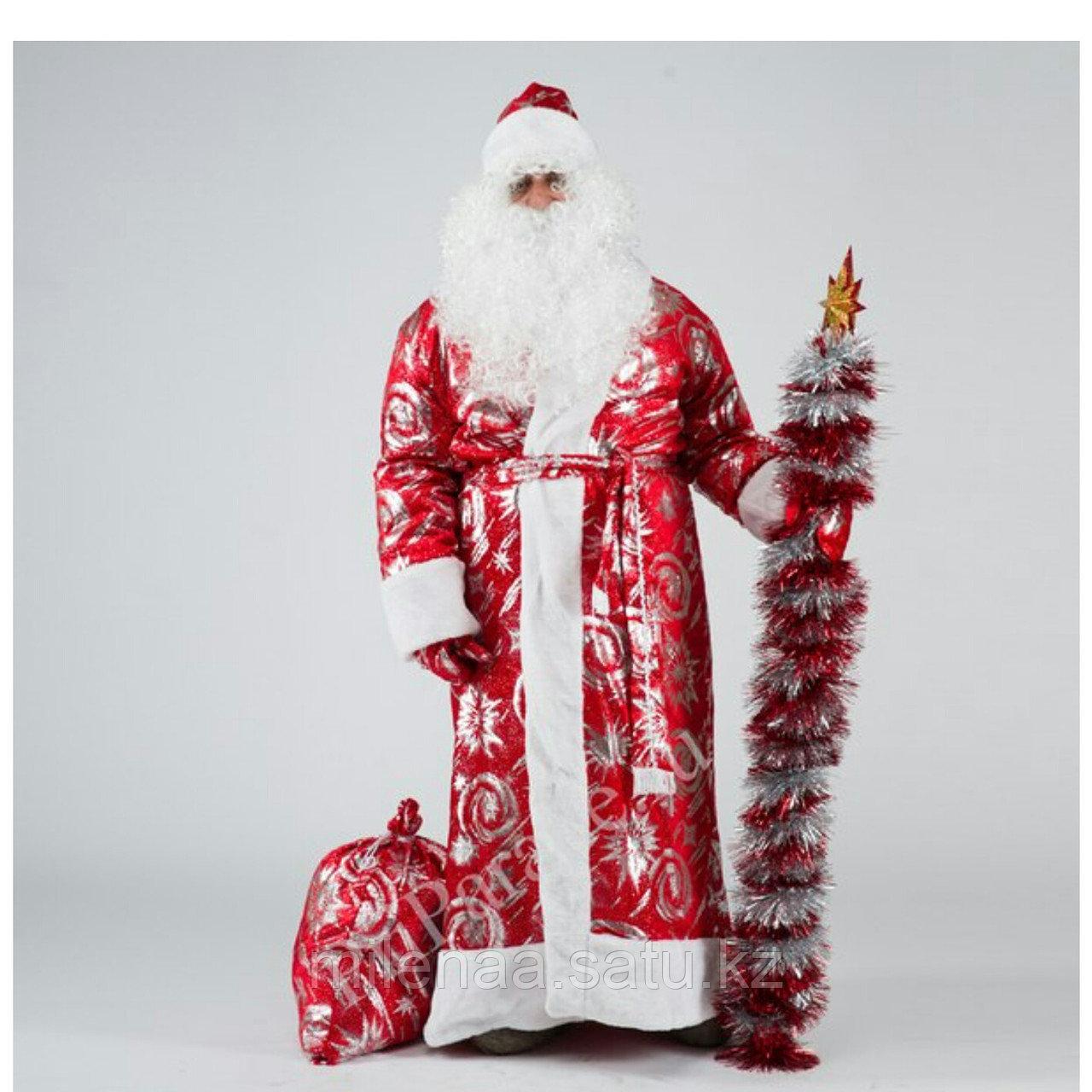 Костюм дед мороз в Астане купить. Бархатный костюм с красивым мехом