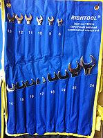 Набор ключей комбинированных Rightool 8-24 ( 14 пр )