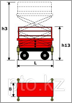 Ножничный подъемник самоходный LM WPSP-045-080 Lema, фото 2