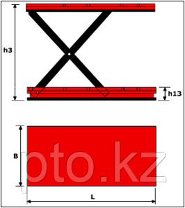 Подъемный стол LM HCL-1.0-1.0 Lema, фото 2