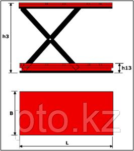 Подъемный стол LM HCL-2.0-2.6 Lema, фото 2