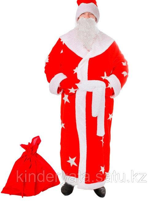 Карнавальный костюм Дед Мороз,  6 предметов