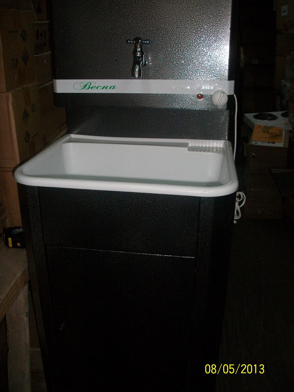 Умывальник для дачи с водонагревателем, нержавеющая мойка