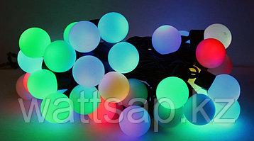 Гирлянда светящаяся (шар 4 см) + контроллер, 3 метра