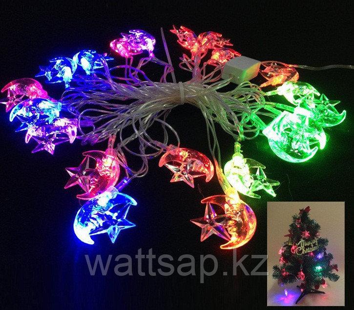 Светодиодная гирлянда LED (звезда в луне) 2м