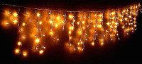 Гирлянда СОСУЛЬКИ 80 желтых LED-ламп, 2 м
