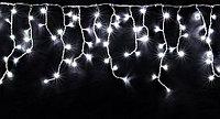 Гирлянда СОСУЛЬКИ 80 холодных белых мигающих LED-ламп, 2 м