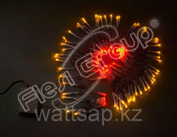 Светодиодная гирлянда LED 100 светодиодов, красный/желтый