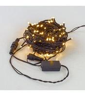 Светодиодная гирлянда LED 100 светодиодов, теплый белый