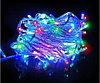 """Светодиодная гирлянда """"Нить"""" 100 Led, белый провод, RGB"""