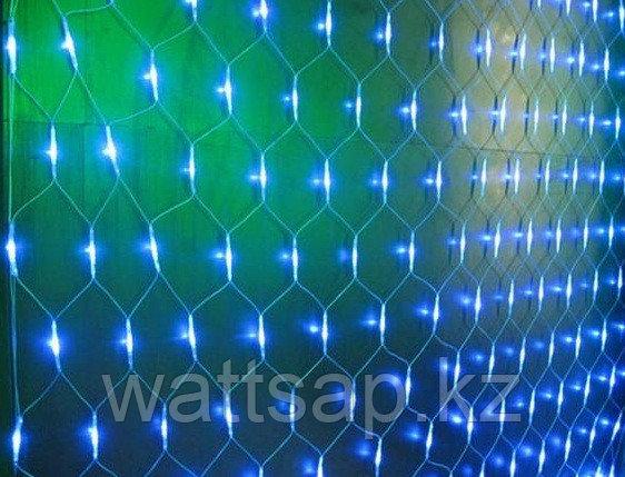 Cветодиодная сетка 3 x1,8 м, синий, контроллер