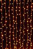 Световой занавес (штора), желтый 2х6 м
