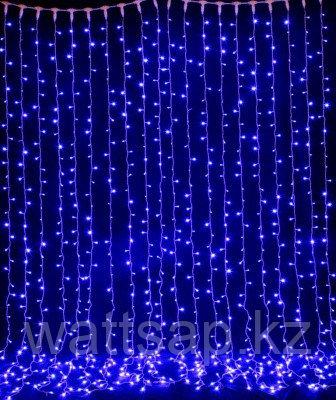 Световой занавес (штора), синий мерцающий 2х3 м